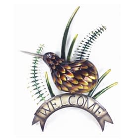 Kiwi Metal Welcome Sign