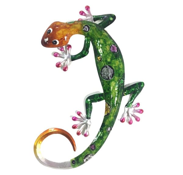 Gecko Metal Art Wall Hanging - Green