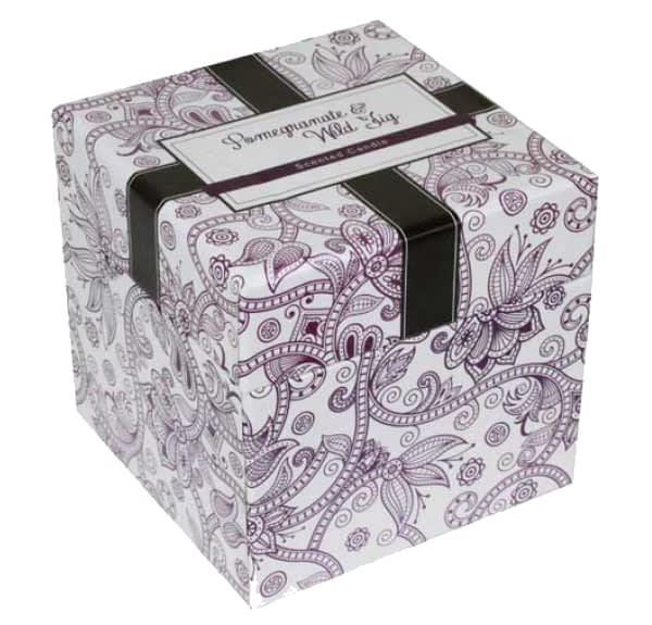 Pomegranate & Wild Fig Boxed Candle - 7.5cm