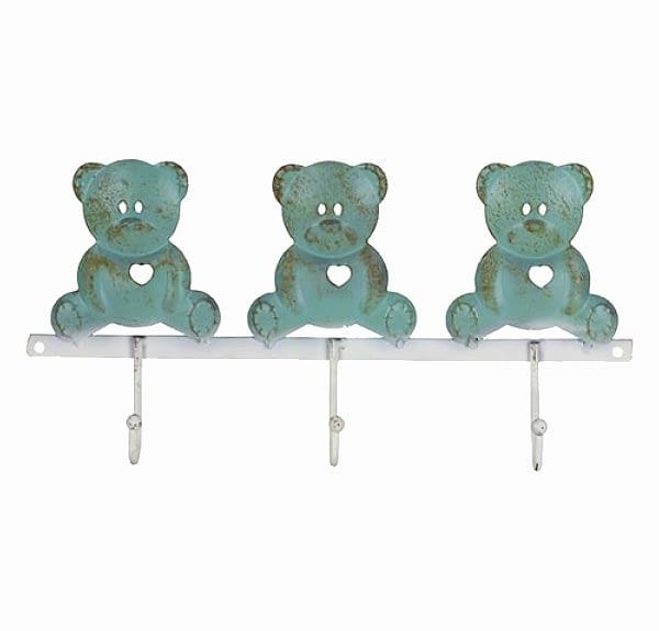 Bear Sitting Trio Wall Hooks