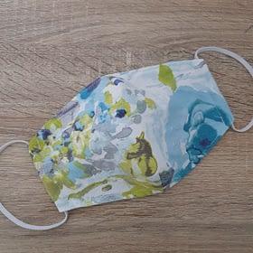 Cloth Face Mask Watercolour Blue/Medium/3-Layers