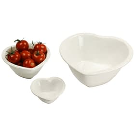 Glazed Heart Bowls - Set of 3