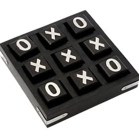 Wooden Tic Tac Toe - Black
