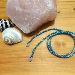 100% Organic Umbilical Cord Tie with Stone Bead