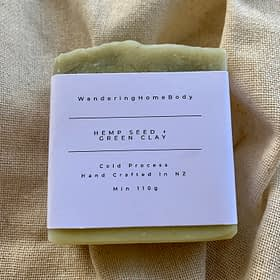 Hemo seed and green clay soap