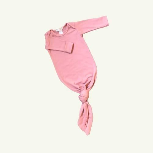 Merino Baby Gown - Rose
