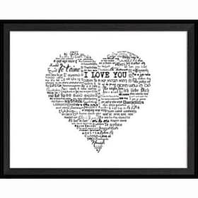 Framed Art - Love Heart