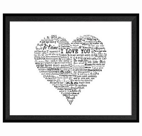 Framed Art - Love Heart