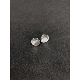 Minimalist Hammered Disc Earrings
