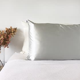 light grey silk pillowcase monday silks