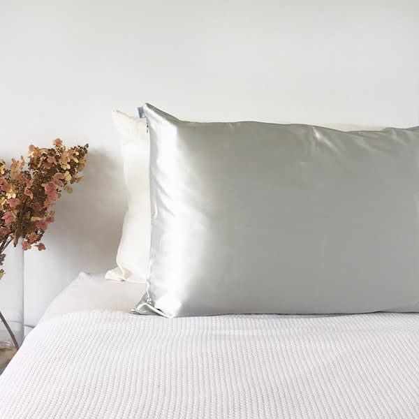 light grey silk pillowcase monday silks