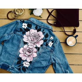 Floral Denim Jacket Commission (On YOUR jacket!)