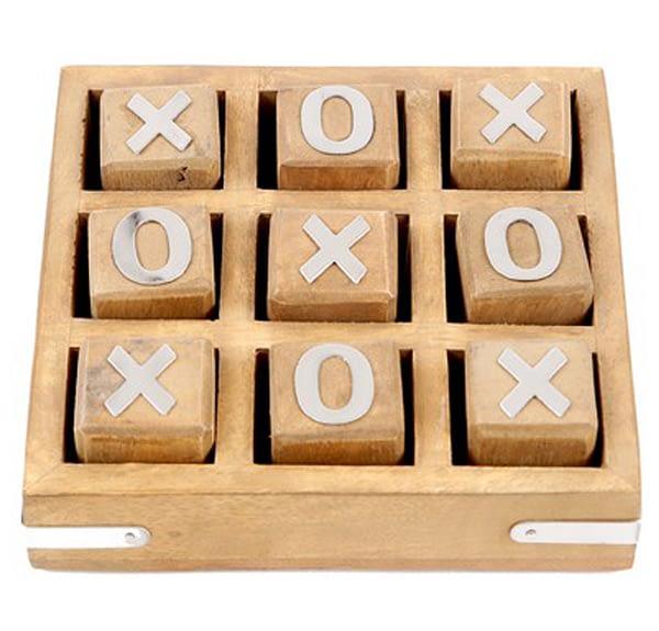 Wooden Tic Tac Toe - Brown