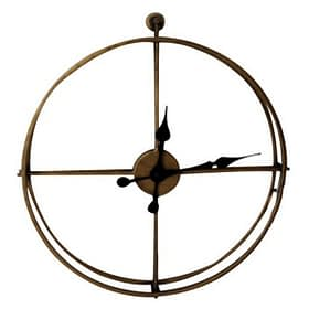 Antique Metal Framed Wall Clock