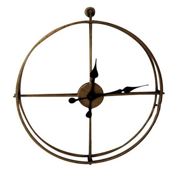 Antique Metal Framed Wall Clock