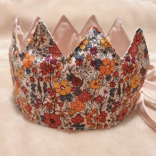 Fabric Crown Floral (side)