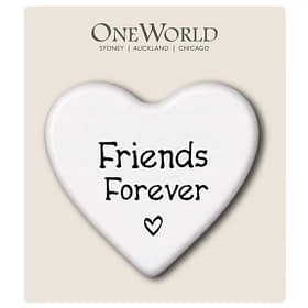 Ceramic Heart-shaped Magnet - Friends Forever
