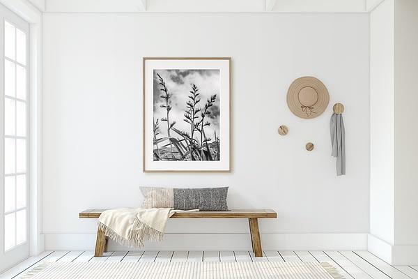 Flax Flower NZ Wall Art