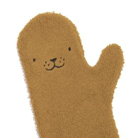 Petit Kiwi Co Baby Shower Glove in Seal - caramel