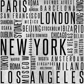Cities In Print - Wood Panel Wall Art