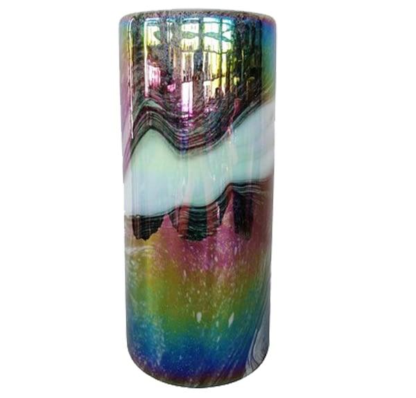 Duck Feather Glass Vase - Medium
