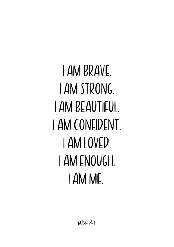 I am Brave Print