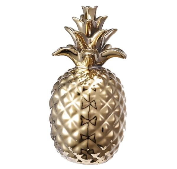 Decorative Pineapple Accent - gold