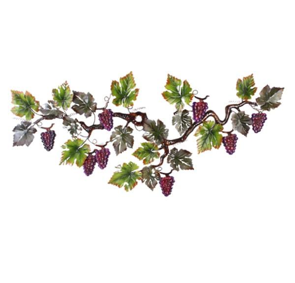 Large Grape Vine Metal Art Wall Hanging