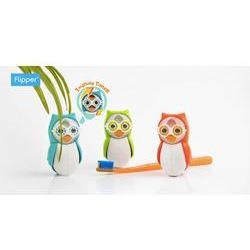 Flipper OWL Children's Toothbrush holder - with brushing timer