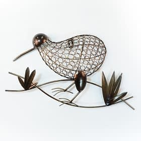 Kiwi Ringed Metal Art Wall Hanging