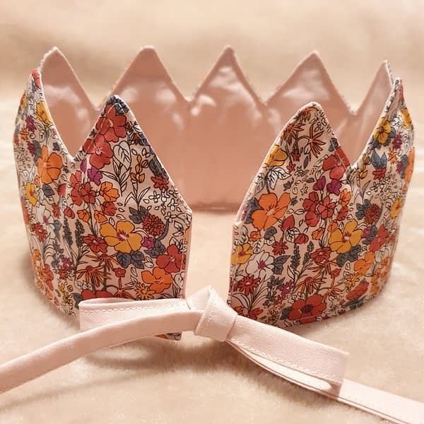 Fabric Crown Floral (back)