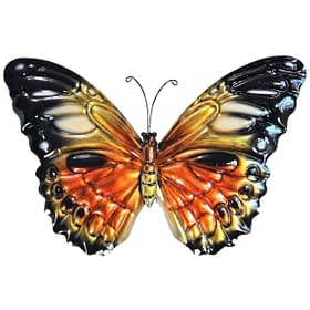 Admiral Butterfly Metal Art Wall Hanging - Yellow
